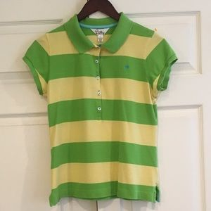 LILLY PULITZER Striped SS Polo Shirt L
